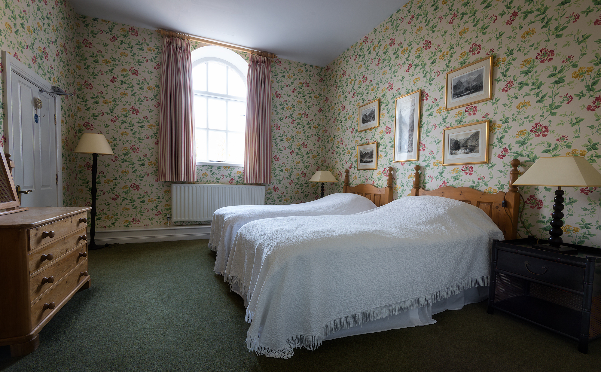 The Clock Tower bedroom 1 self catering Baronscourt