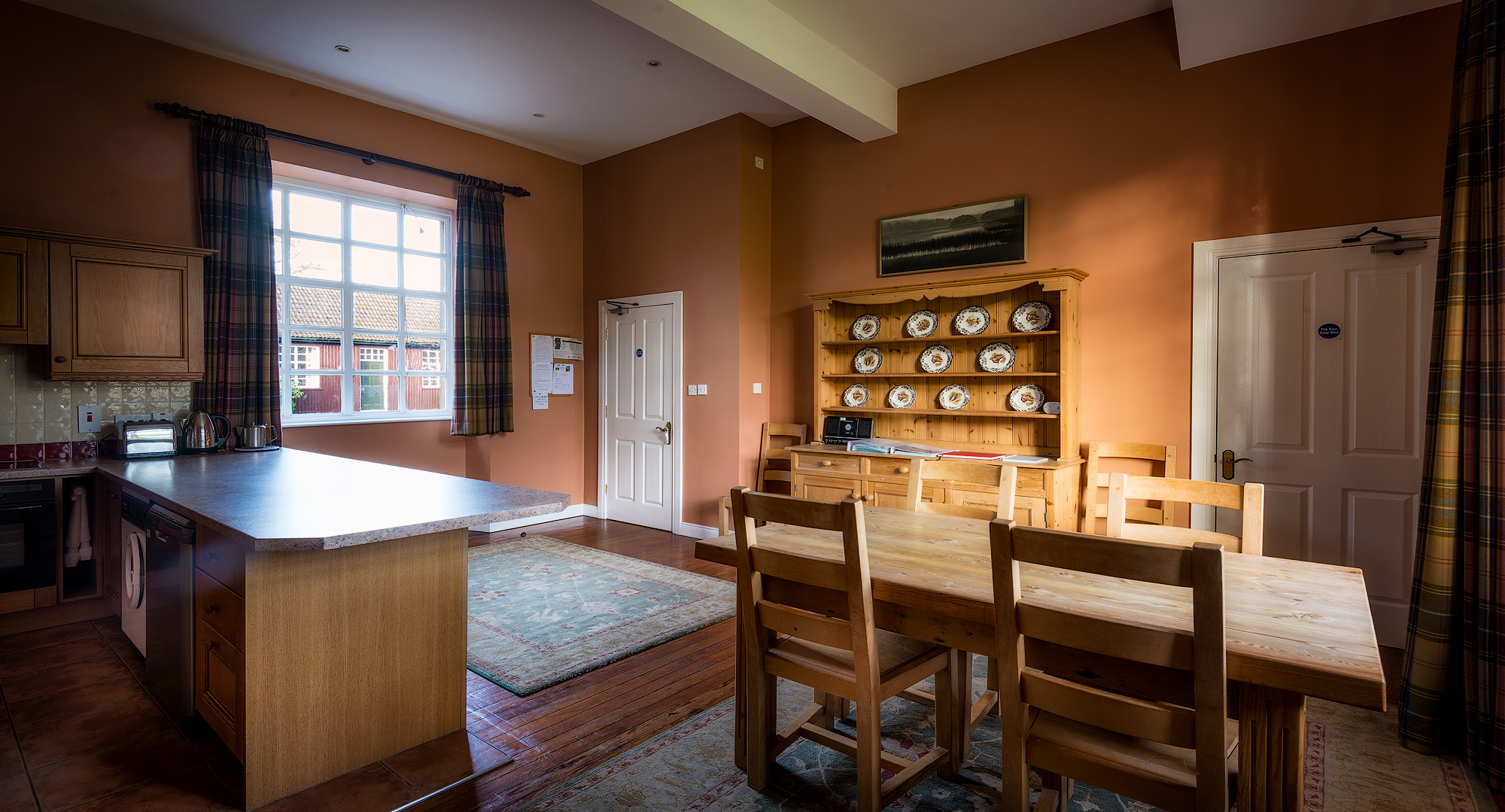 The Clock Tower kitchen & dining area self catering co tyrone