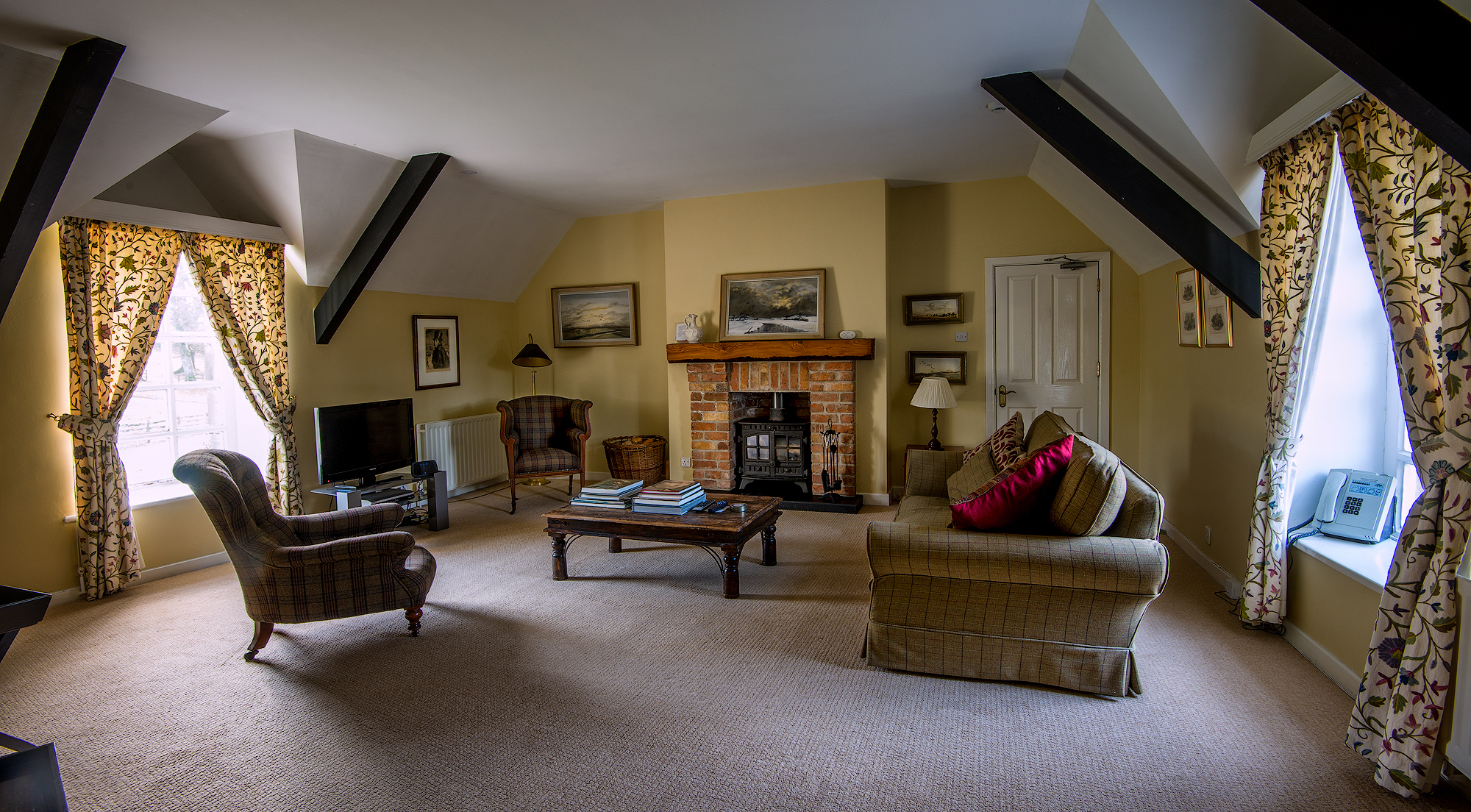 the clock tower living room: baronscourt self catering